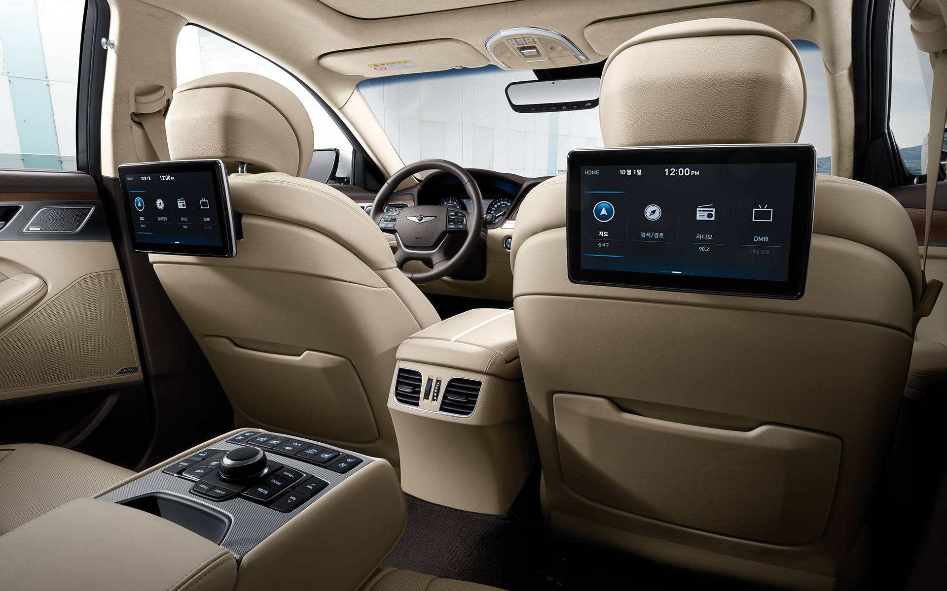 GENESIS G80 Innovation Features - 뒷좌석 듀얼 모니터