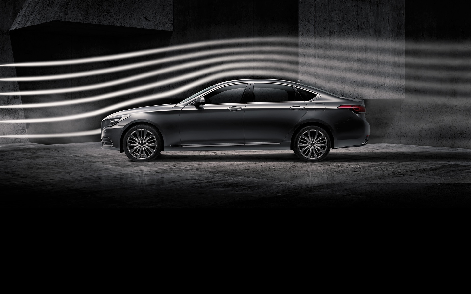 GENESIS G80 Performance Features - Weight balance and aerodynamic performance