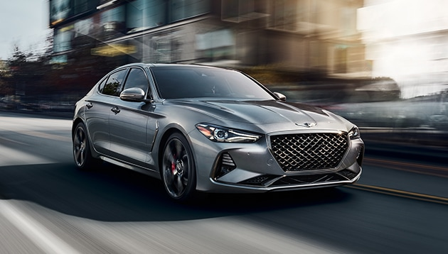 2021 Genesis G70 shown in Saville Silver.