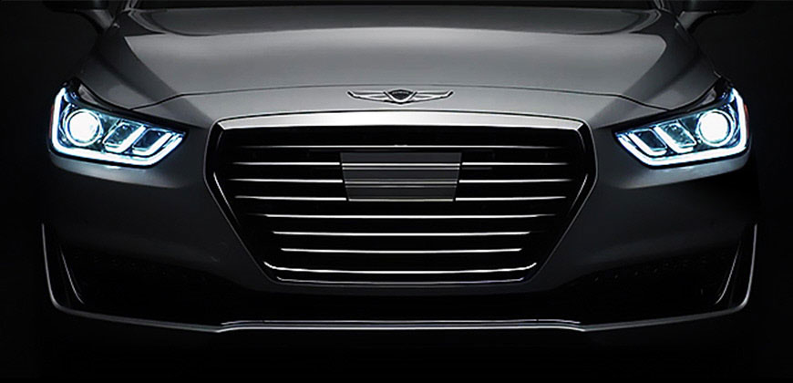 The signature hexagonal grille exudes luxury and confidence. Genesis G80   G90   Genesis Luxury Vehicles   Genesis USA