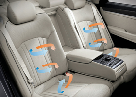 HEATED FRONT AND REAR SEATS VENTILATED FRONT SEATS