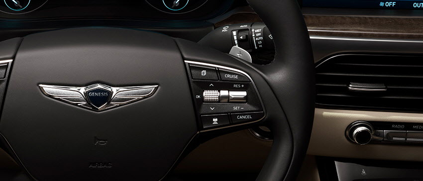 a radar sensor installed in the front of the vehicle detects the distance from the car ahead and automatically maintains the distance and speed set by the