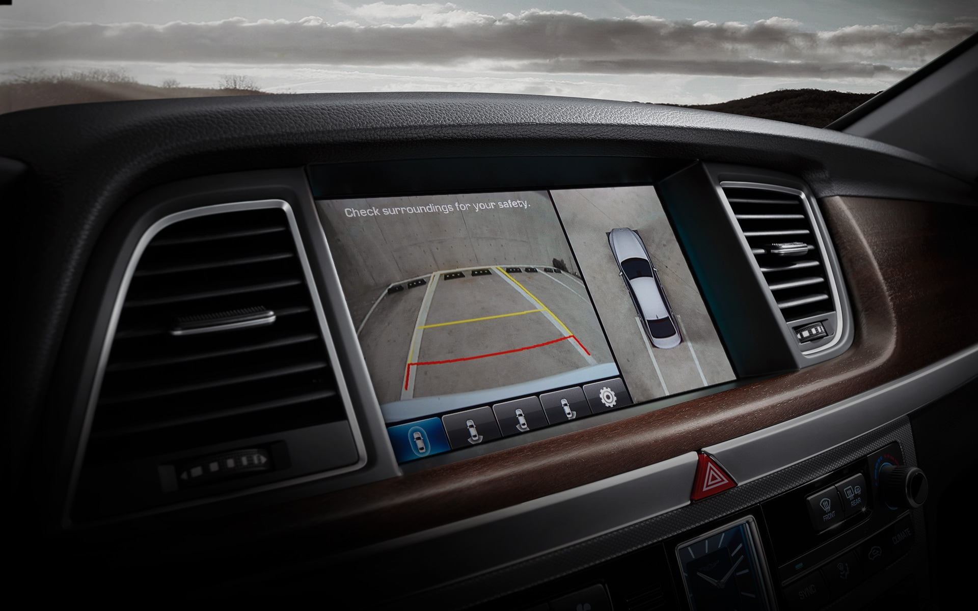 GENESIS G80 Innovation Features - Around View Monitoring (AVM) System